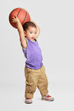 Little boy with basketball Royalty Free Stock Photography