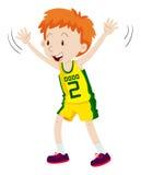 Little boy in basketball uniform Stock Photos