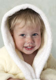 Little boy in bath robe Royalty Free Stock Image