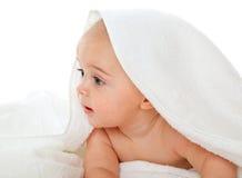Little boy in bath towel Stock Photos