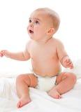 Little boy in bath towel Stock Photo