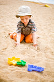 Little boy on beach Royalty Free Stock Photos