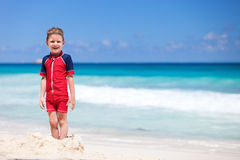 Little boy at beach Royalty Free Stock Photos