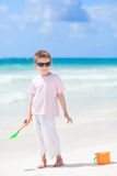 Little boy at beach Stock Image