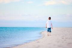 Little boy at beach Stock Photos