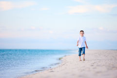 Little boy at beach Royalty Free Stock Images