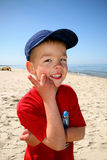 A little boy on the beach Royalty Free Stock Photography