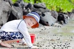 Little boy at the beach Royalty Free Stock Photos