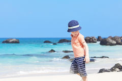 Little boy at the beach Royalty Free Stock Photos