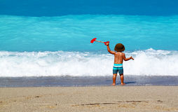 Little boy. On the beach as concept for summertime Royalty Free Stock Photography