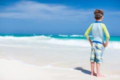 Little boy at beach Stock Image