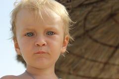 A little boy on the beach Stock Photography