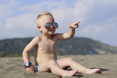 A little boy on the beach Royalty Free Stock Photo