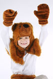 Little boy with bear costume Stock Photography