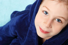 Little boy beautiful after shower Stock Images
