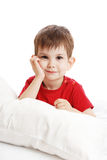 The little boy on a bed Stock Image
