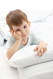 The little boy on a bed Royalty Free Stock Image