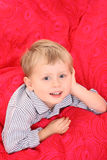 Little boy in bed Stock Photos