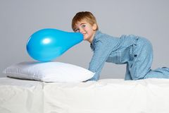 Little boy in bed Royalty Free Stock Photos