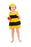 Little boy in bee carnival costume Stock Images
