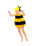 Little boy in bee carnival costume Royalty Free Stock Photos