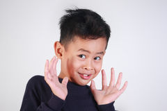 Little Boy Being Shocked Royalty Free Stock Photography
