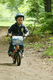 Little boy on bicycle. Stock Photography