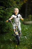 Little boy with bicycle Royalty Free Stock Photography