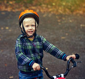 little boy on a bicycle Royalty Free Stock Image