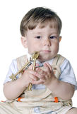Little boy with the big keys Royalty Free Stock Photo