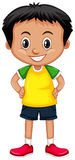 Little boy with big smile. Illustration Stock Photography