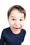 Little boy with big tooth gap Royalty Free Stock Photo