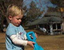 Little Boy bij Spel Royalty-vrije Stock Afbeelding