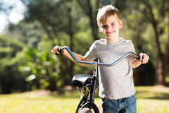 Little boy bike Stock Photography