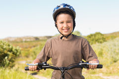 Little boy on a bike ride Stock Photography