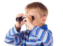 Little Boy with Binoculars Royalty Free Stock Photography