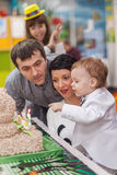 Little boy and birthday cake Royalty Free Stock Photo