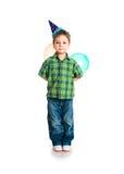 Little boy in birthday cap Stock Photo