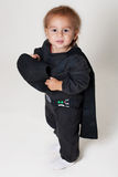 Little boy in a black suit Royalty Free Stock Photo