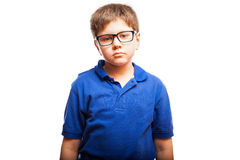 Little boy with blank expression Stock Photo
