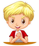 Little boy with blond hair. Illustration Royalty Free Stock Photo