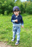 Little boy with blowball Stock Photography