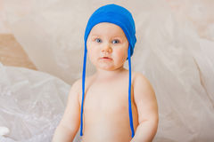 Little boy in a blue cap Stock Photography