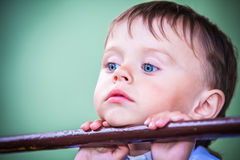 Little boy with blue eyes Stock Photography