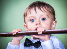 Little boy with blue eyes Royalty Free Stock Image