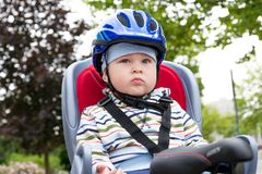 Boy with blue helmet Stock Photos