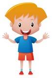 Little boy in blue shirt Stock Photo