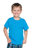 Little boy in the blue shirt Royalty Free Stock Photography