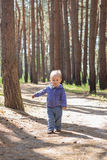 A little boy in a blue suit Royalty Free Stock Photo