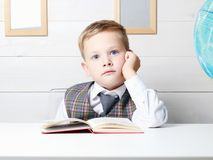 Little boy with Book, Children Education Royalty Free Stock Photography